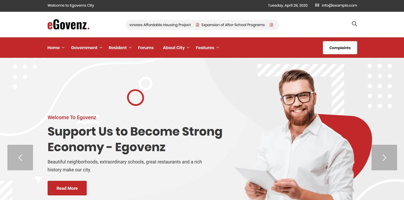 egovenz-political-website-template