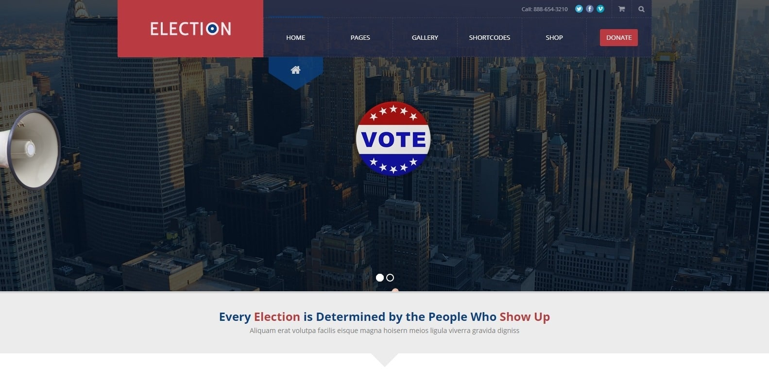 election-political-website-template