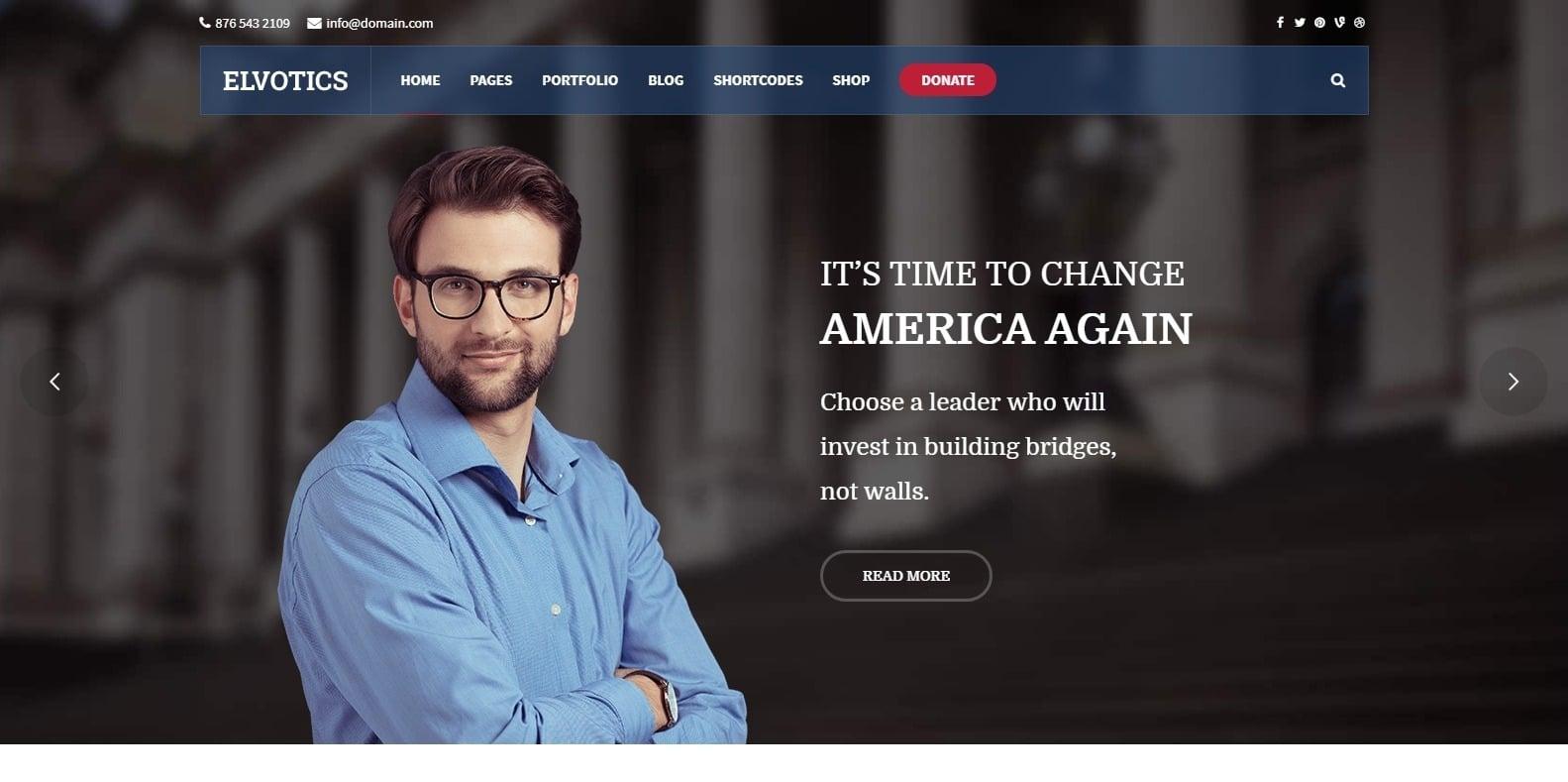 elvotics-political-website-template