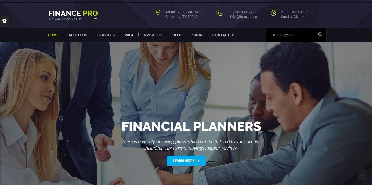finance-pro-finance-webaite-template