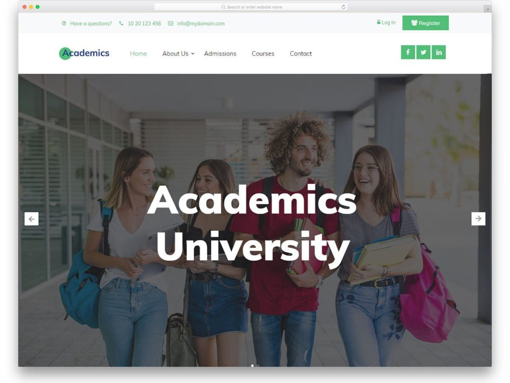 free-bootstrap-college-templates