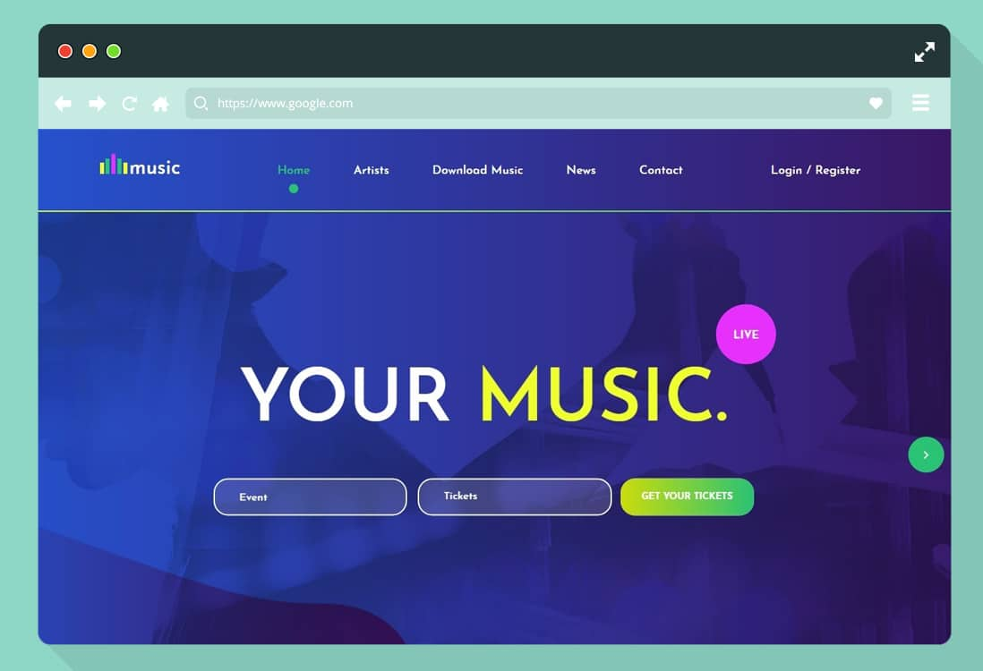 free-music-website-template