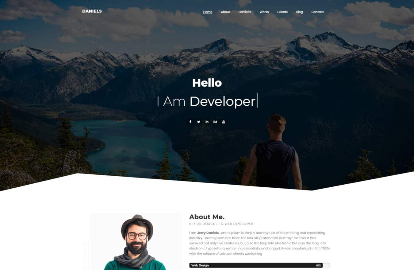 graphic design website templates daniels