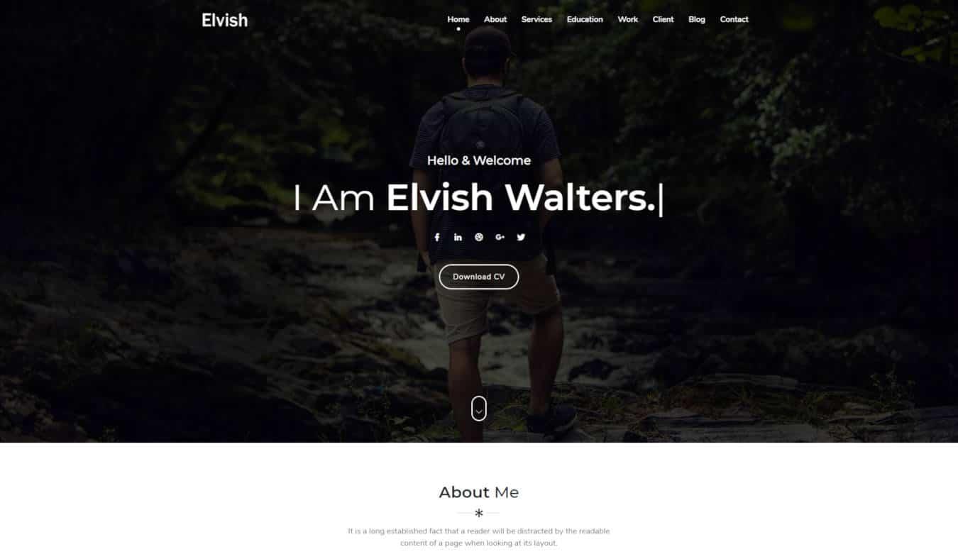 graphic design website templates elvish