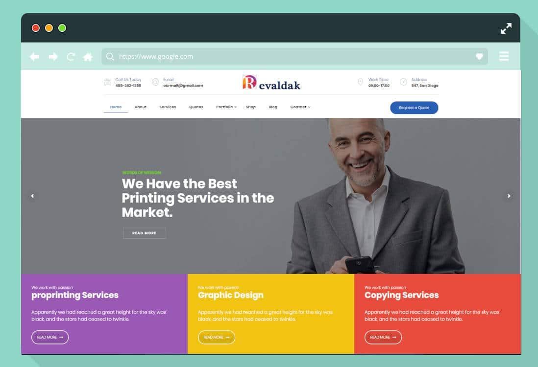 graphic design website templates featured image