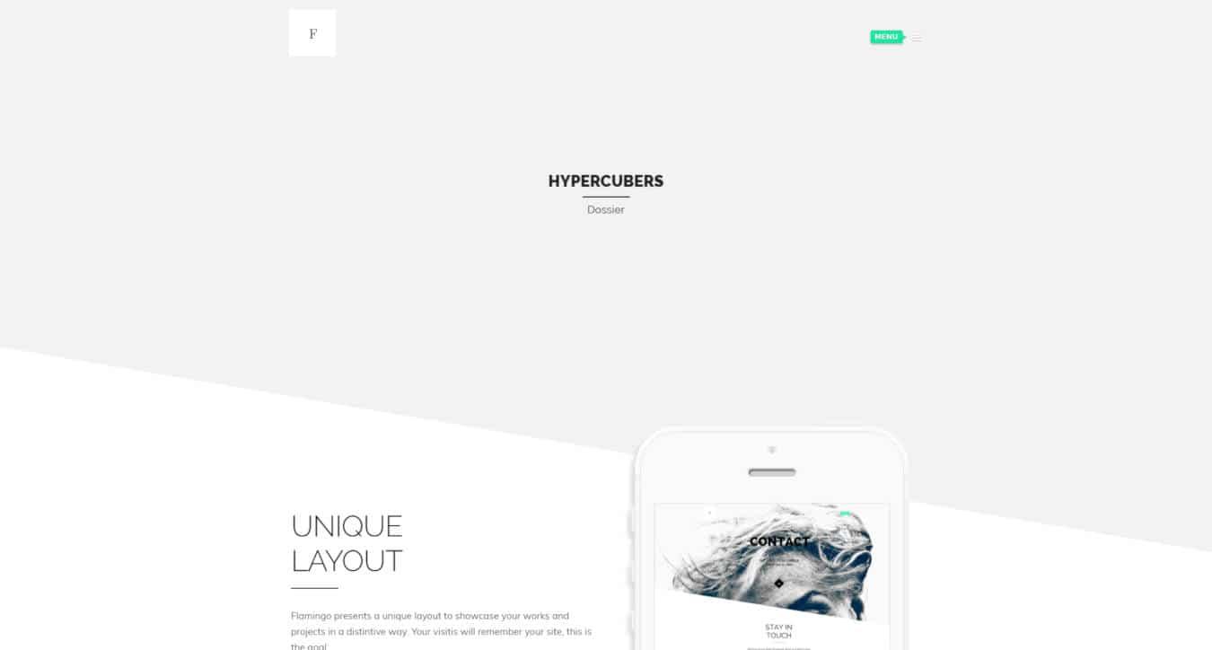 graphic design website templates flamingo