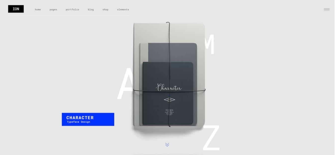 graphic design website templates ion