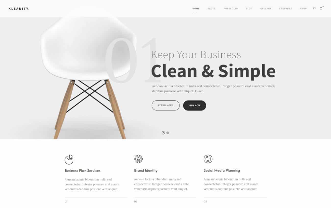 graphic design website templates kleanity