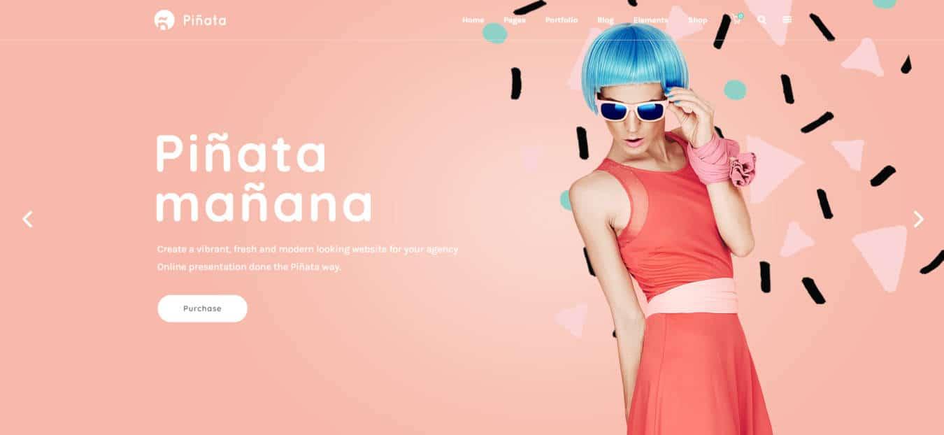 graphic design website templates pinata