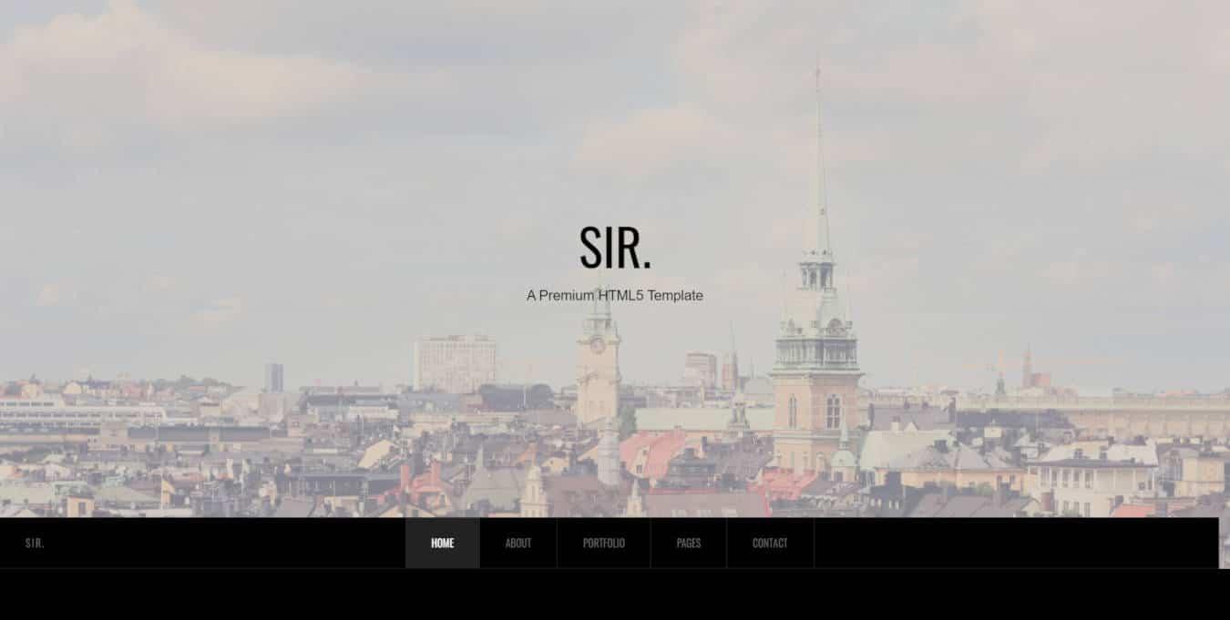 graphic design website templates sir