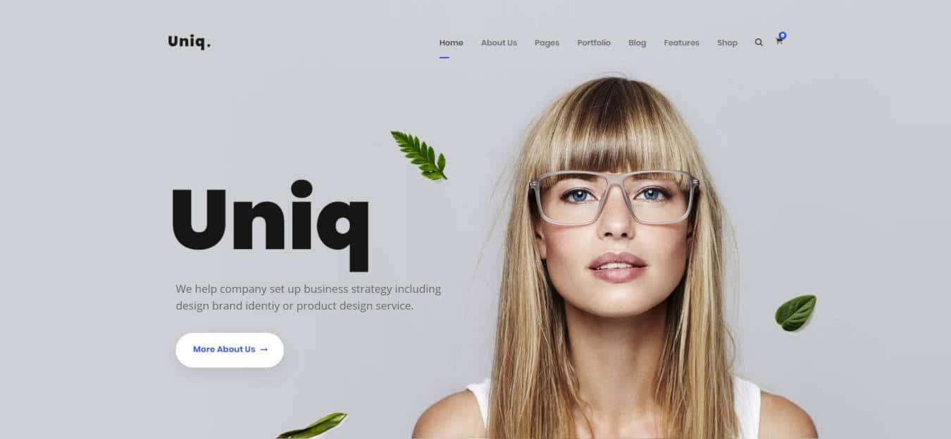 graphic design website templates uniq