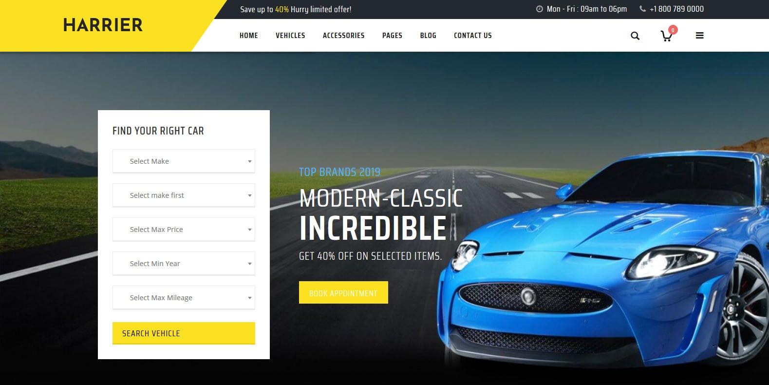 harrier-automotive-website-template