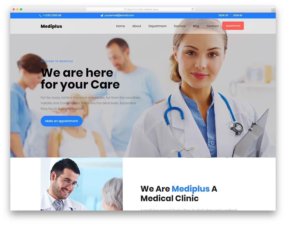interactive doctor website templates