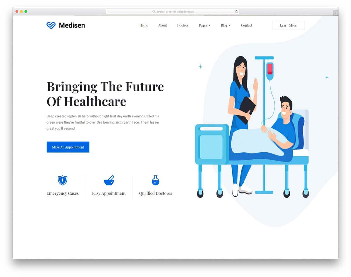 modern and feature-rich free doctor website templates