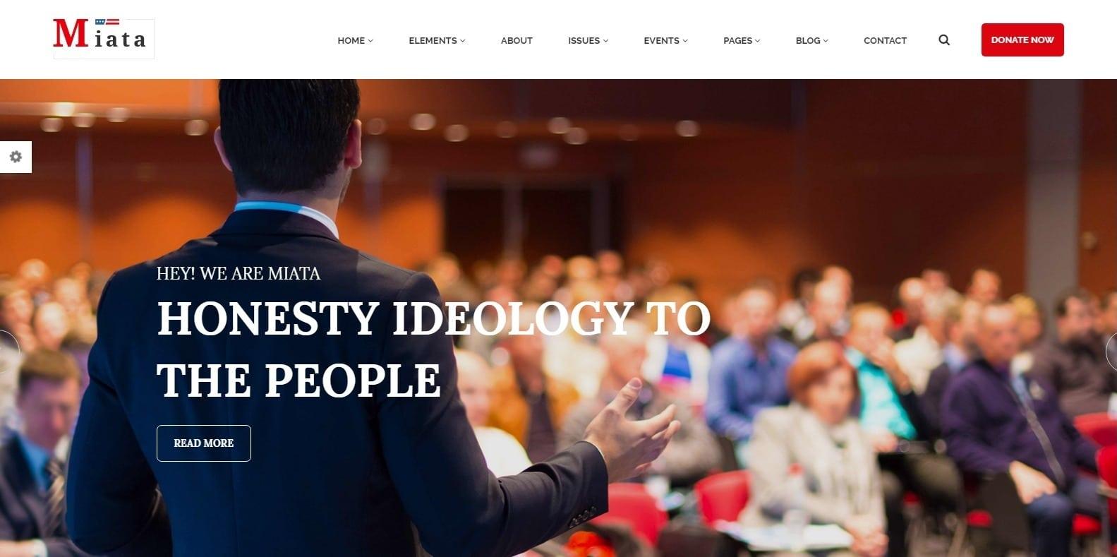 miata-political-website-template