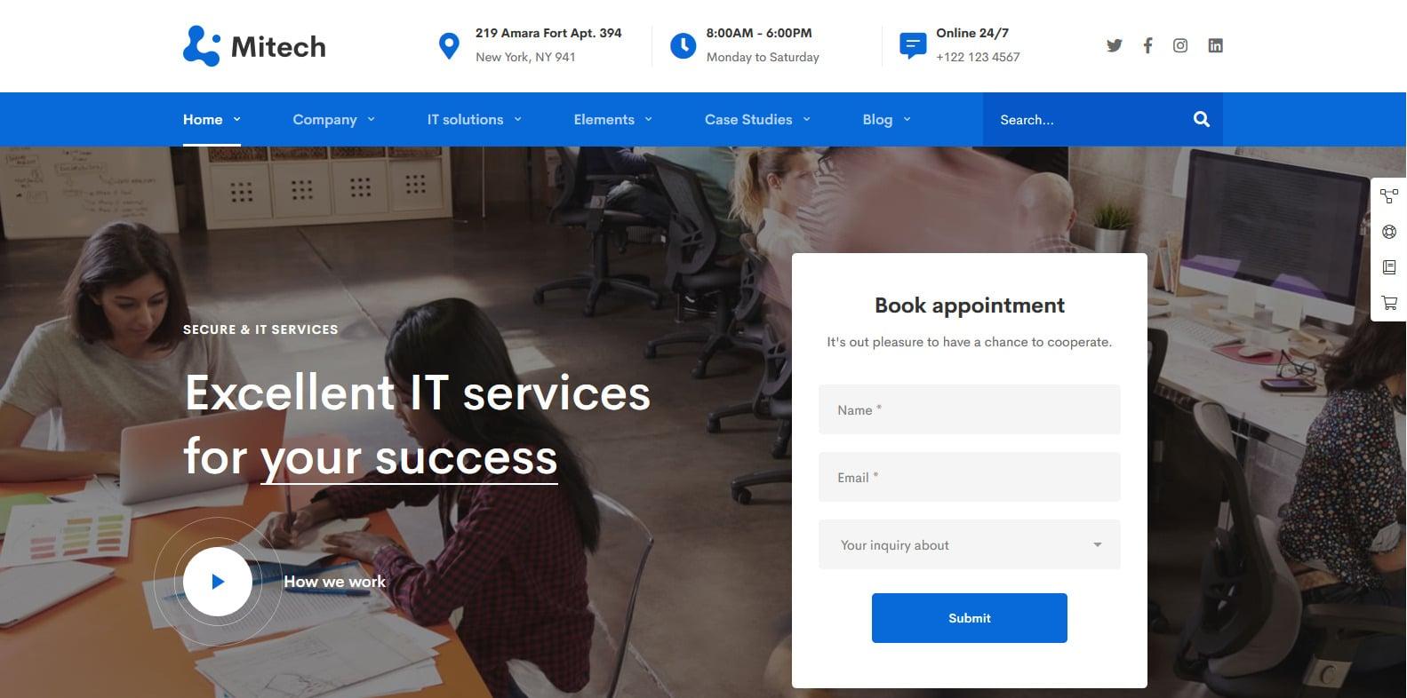 mitech-technology-website-template