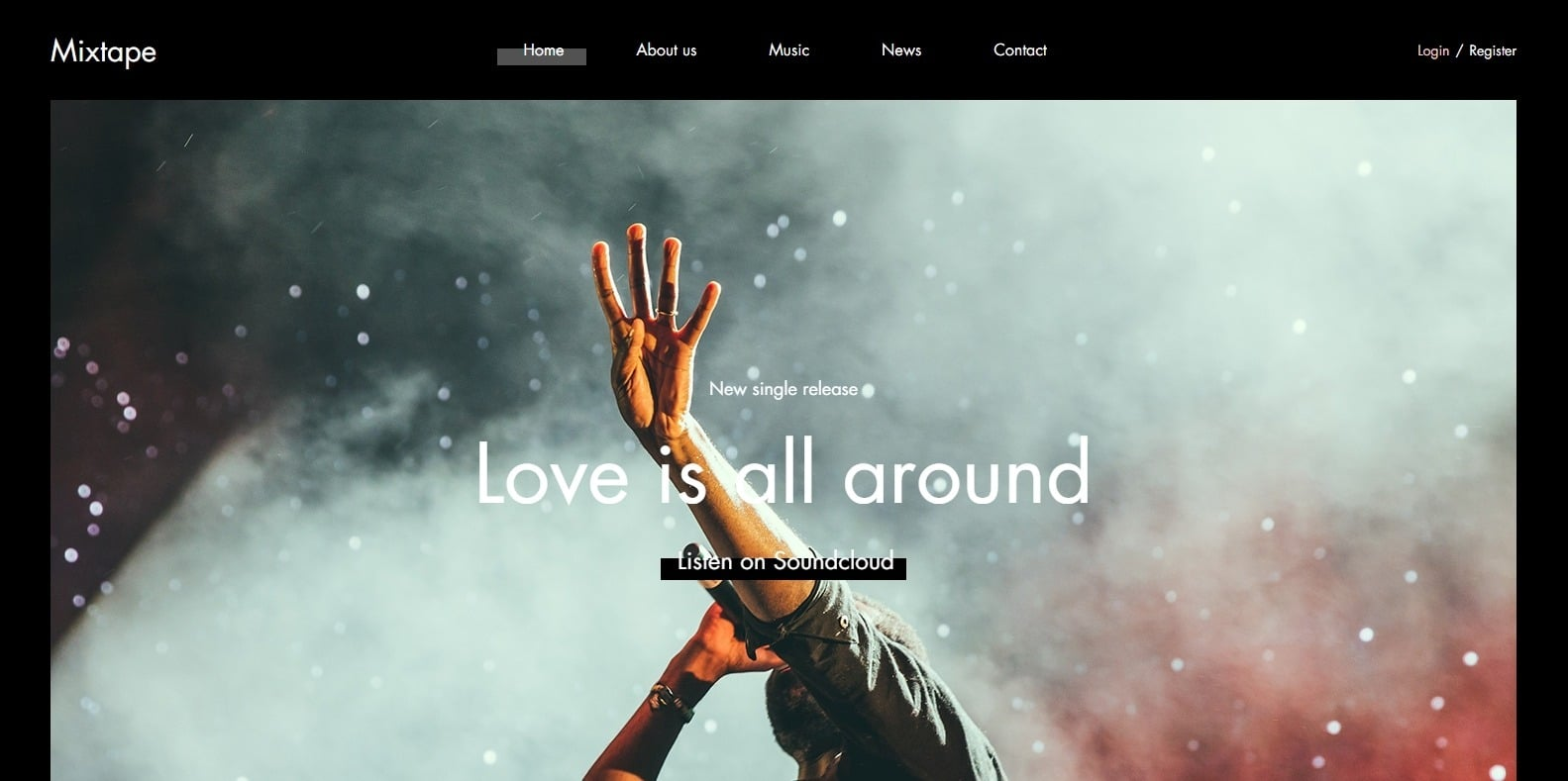 mixtape-html-free-website-template
