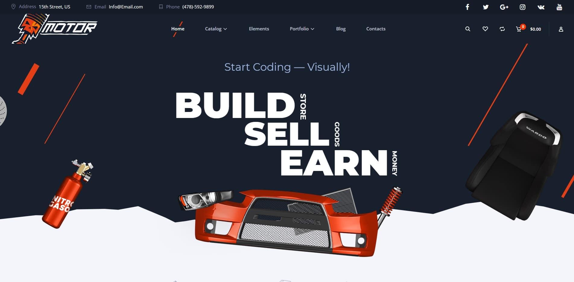 motor car dealer website template