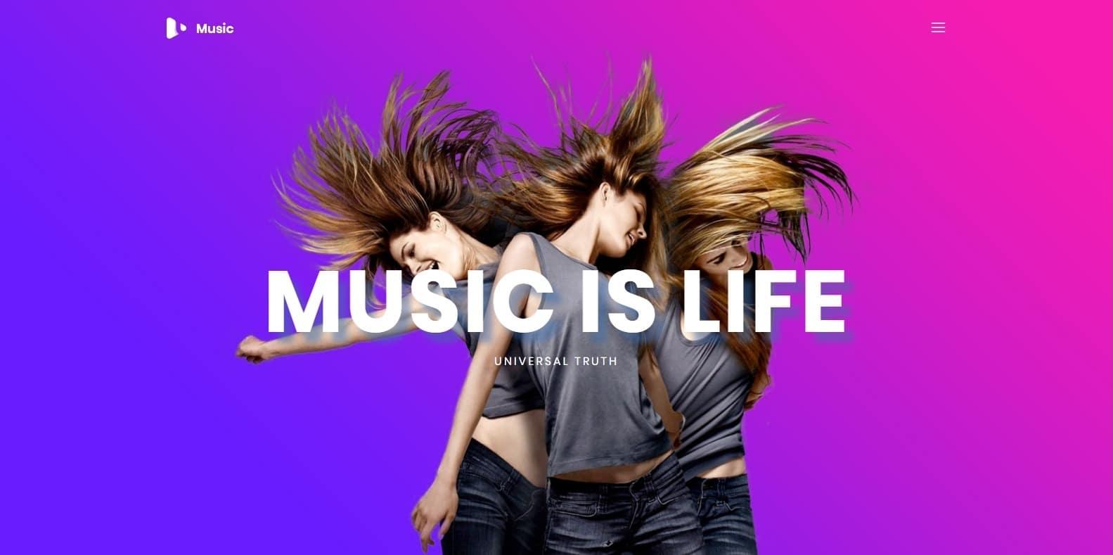 music-html-free-website-template