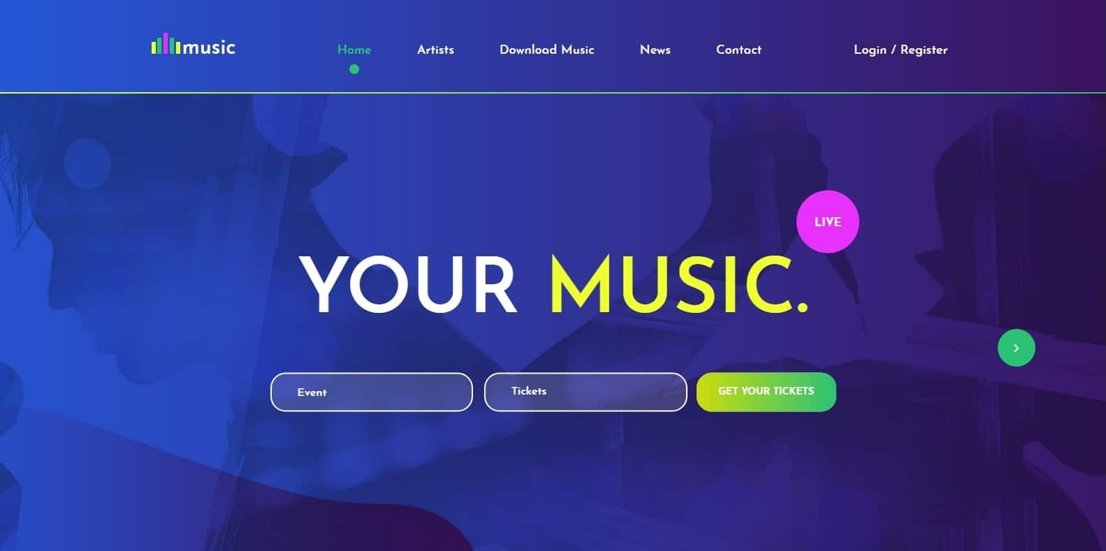 Hand-Picked List of Bootstrap HTML Free Music Template For 2019