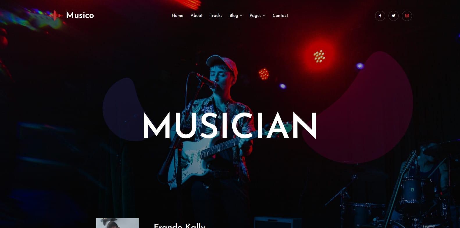 musico-music-website-template