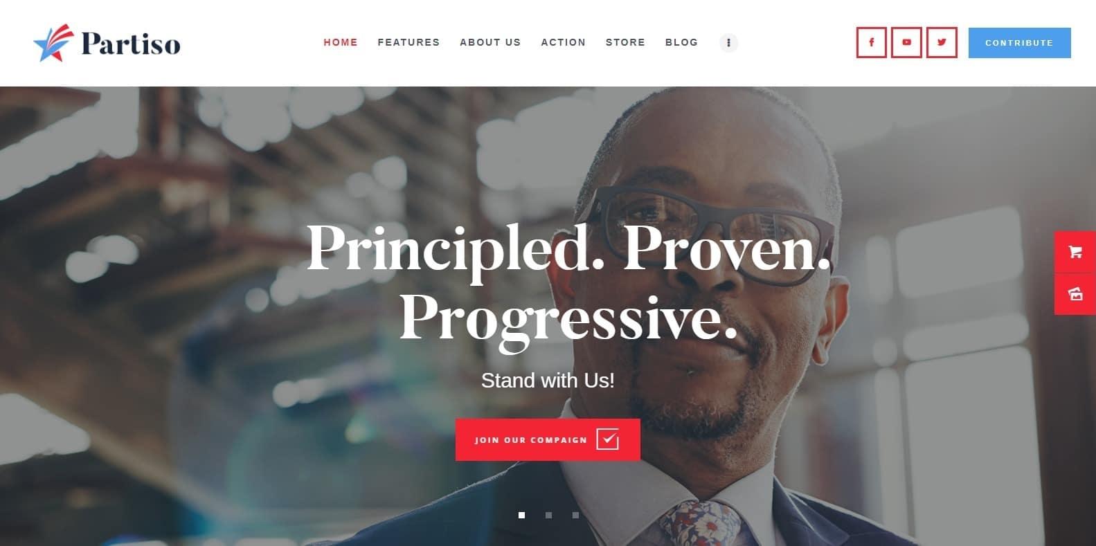 partiso-political-website-template