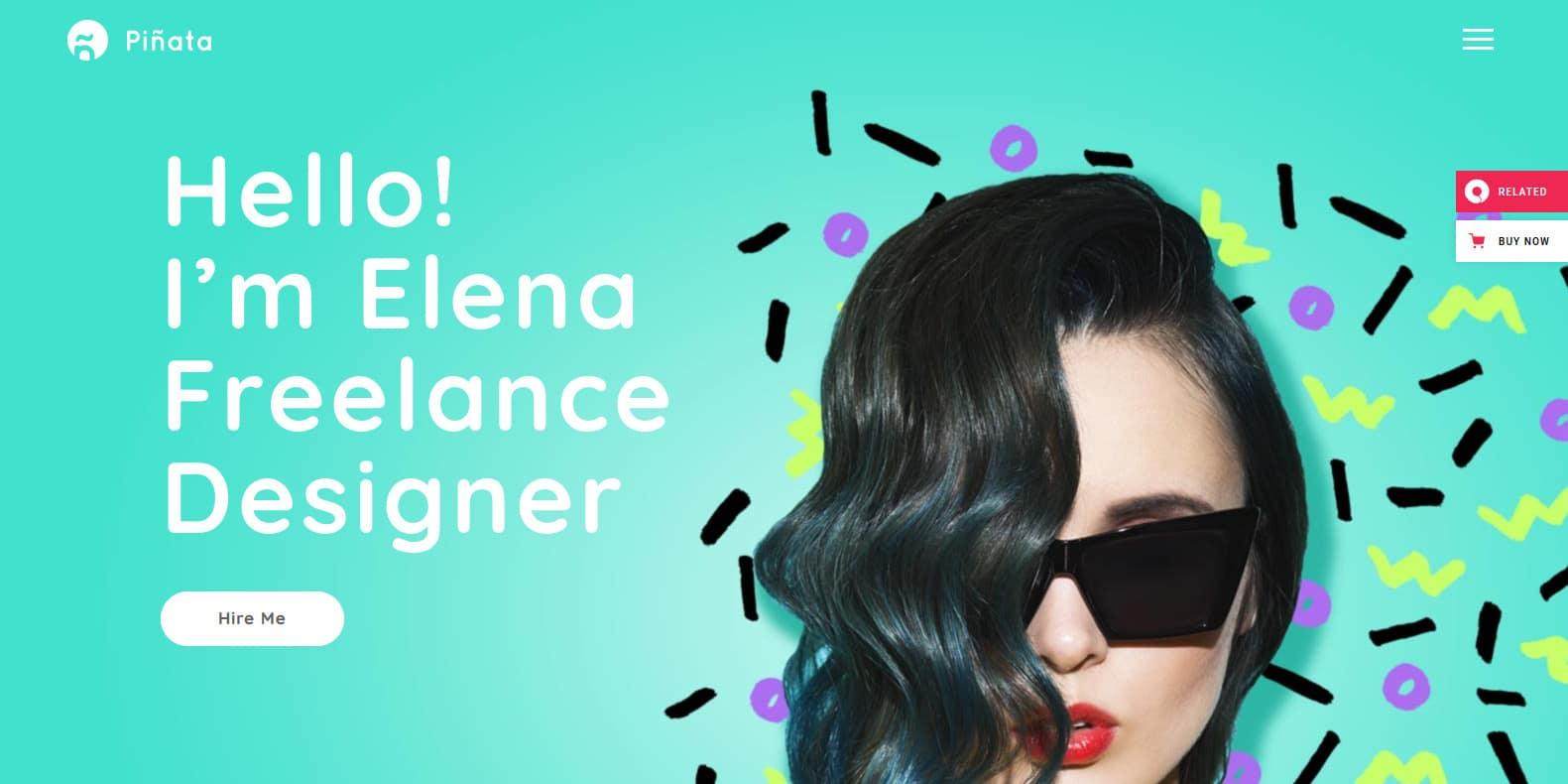 pinata-graphic-designer-website-template