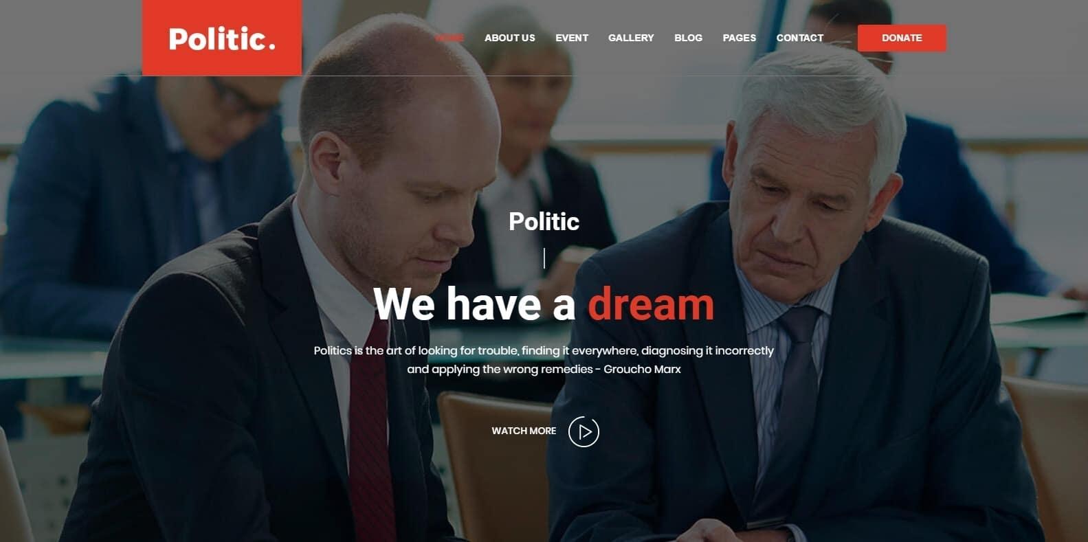 politic-political-website-template