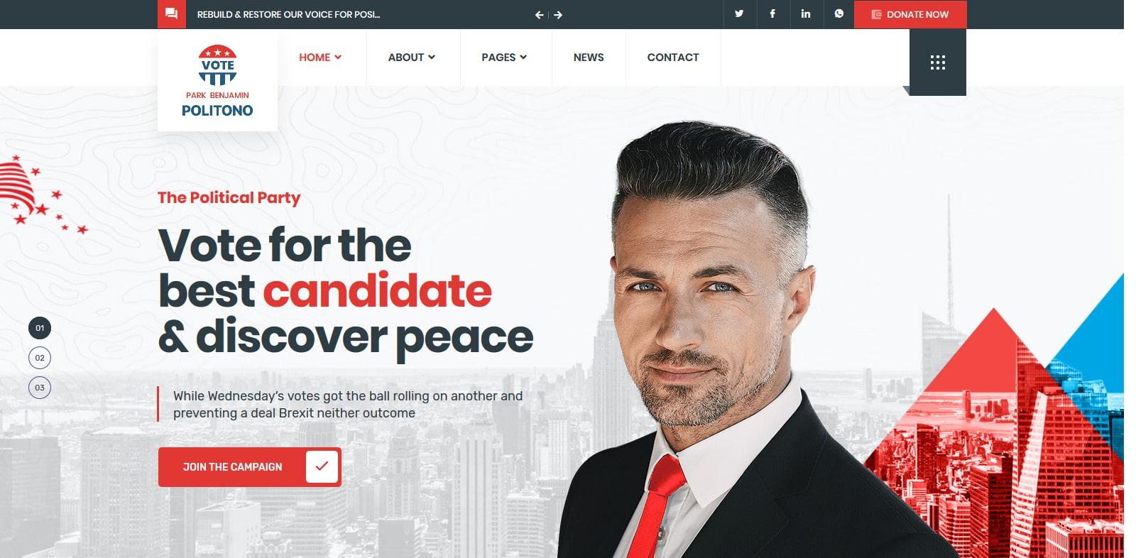 politono-political-website-template