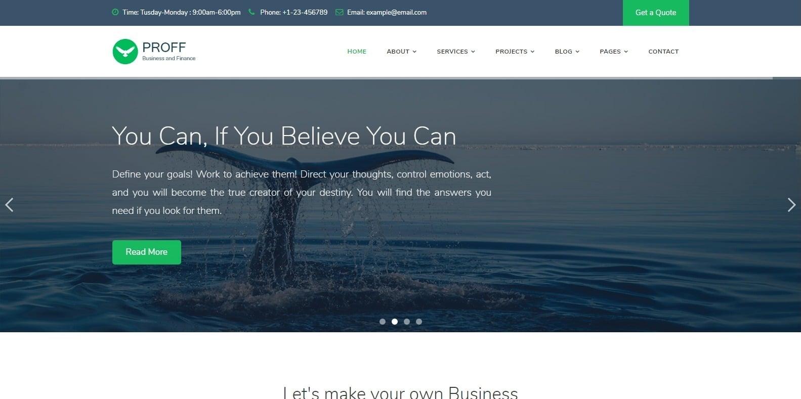 proff-finance-webaite-template