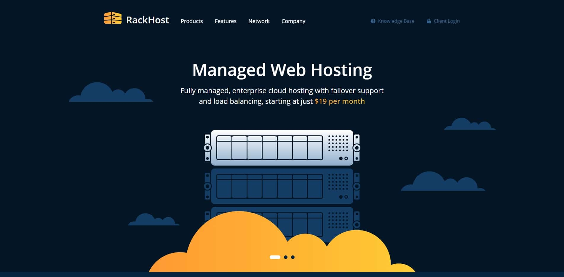 rackhost technology website template