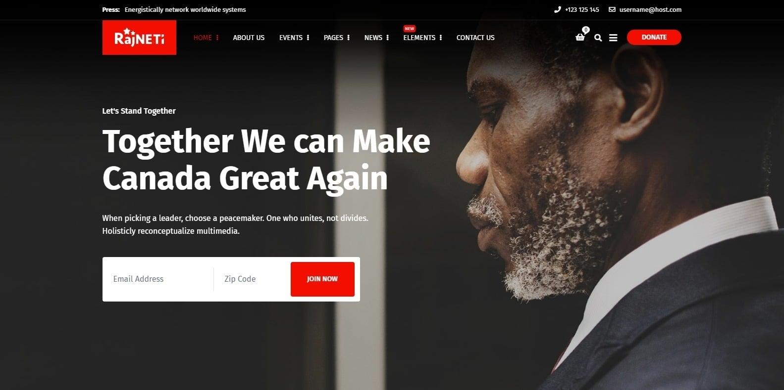 rajneti-political-website-template