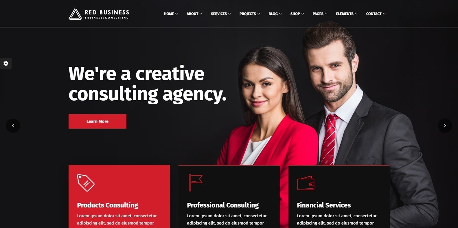 red-business-finance-webaite-template