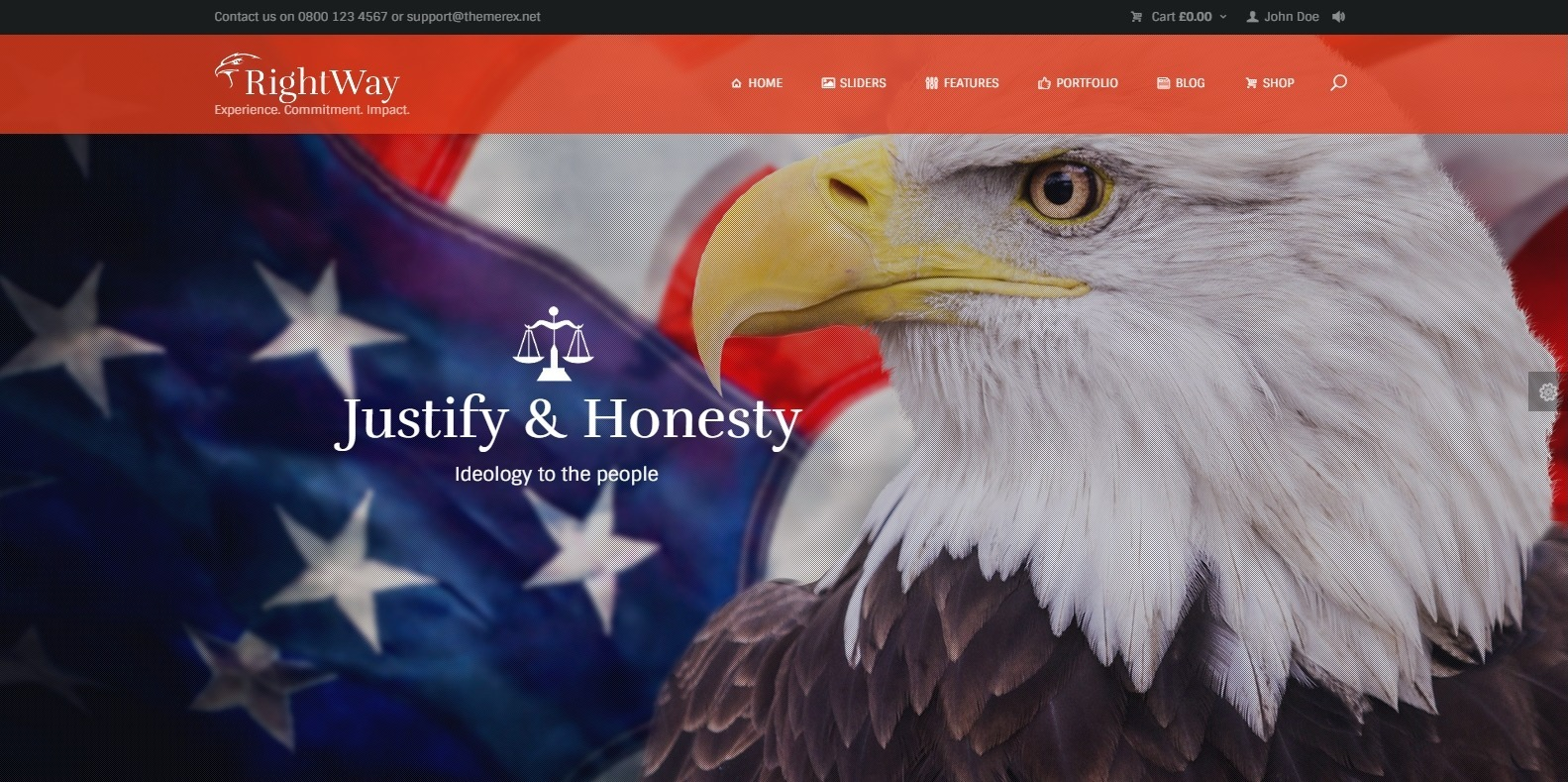 rightway-political-website-template