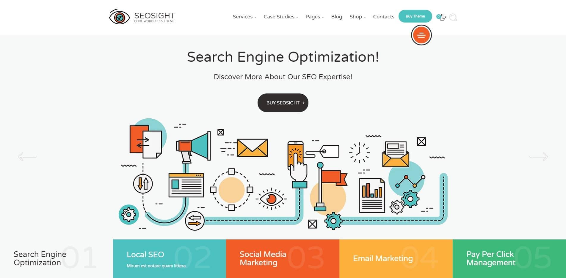 seosight technology website template
