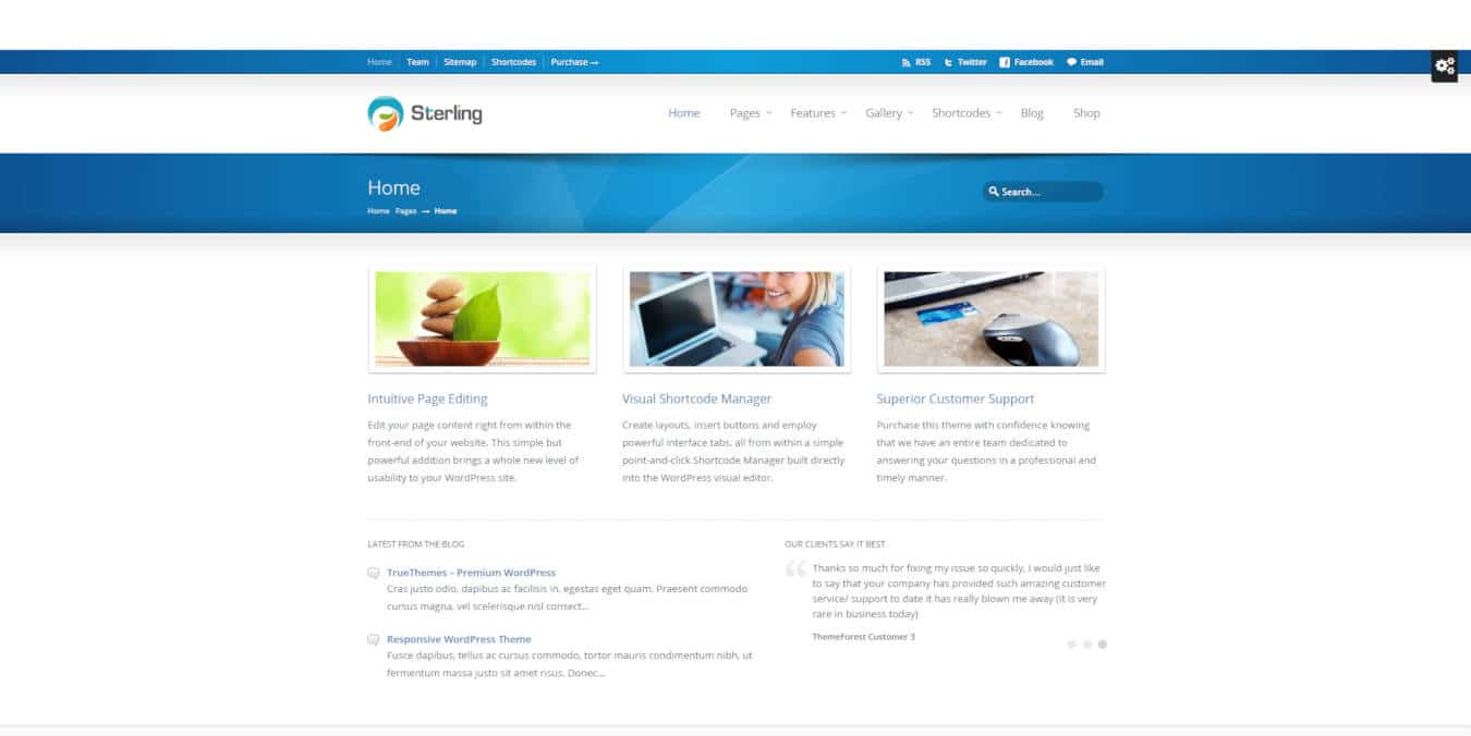software company websites templates sterling