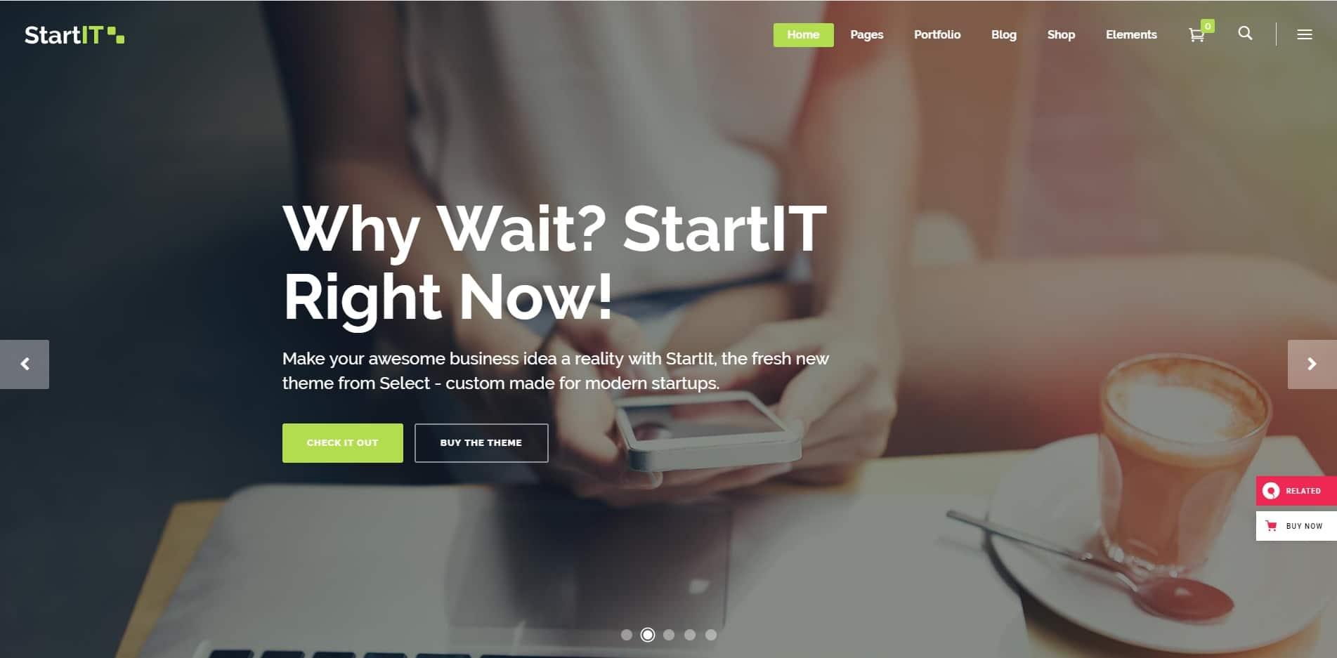 startit technology website template