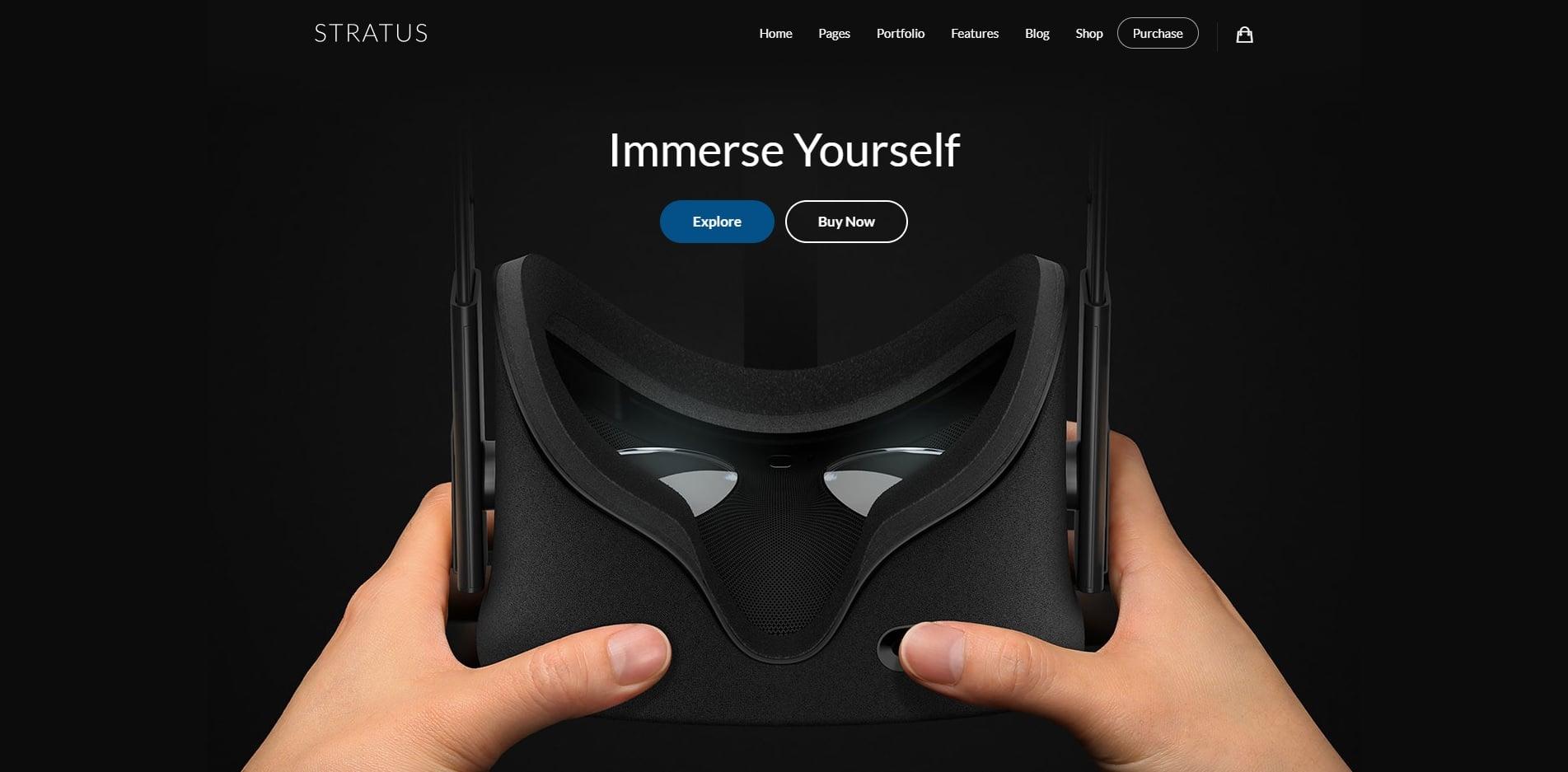 stratus technology website template
