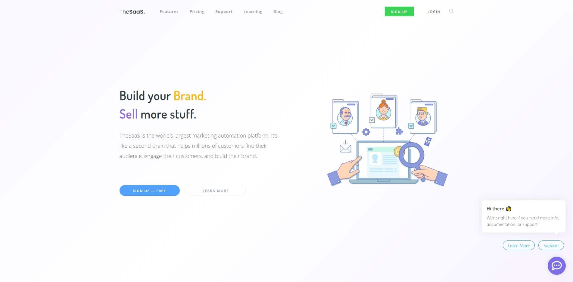 thesaas technology website template