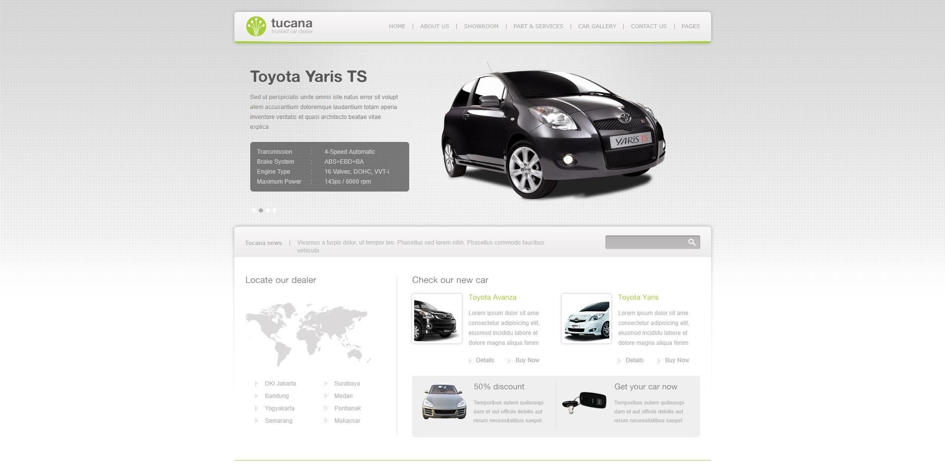 tucana car dealer website template