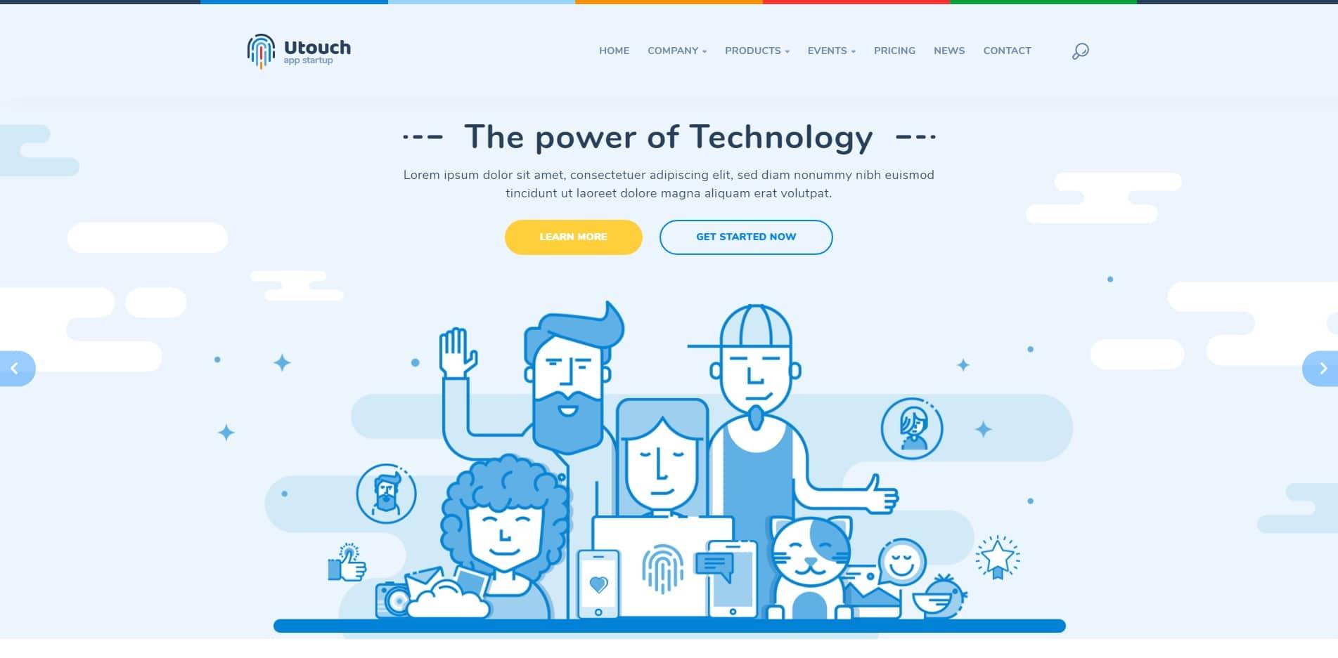utouch technology website template