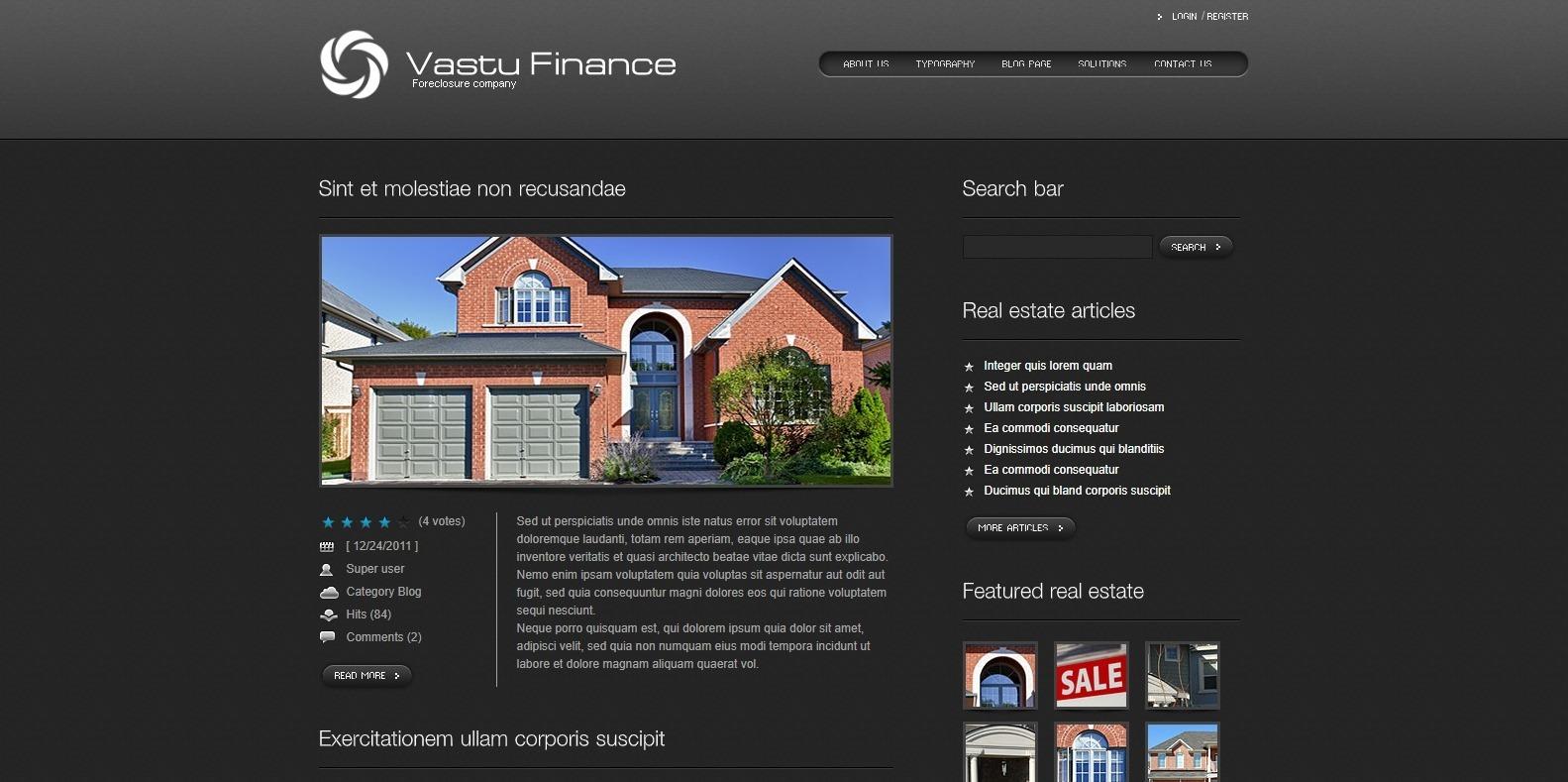 vastu-finance-webaite-template