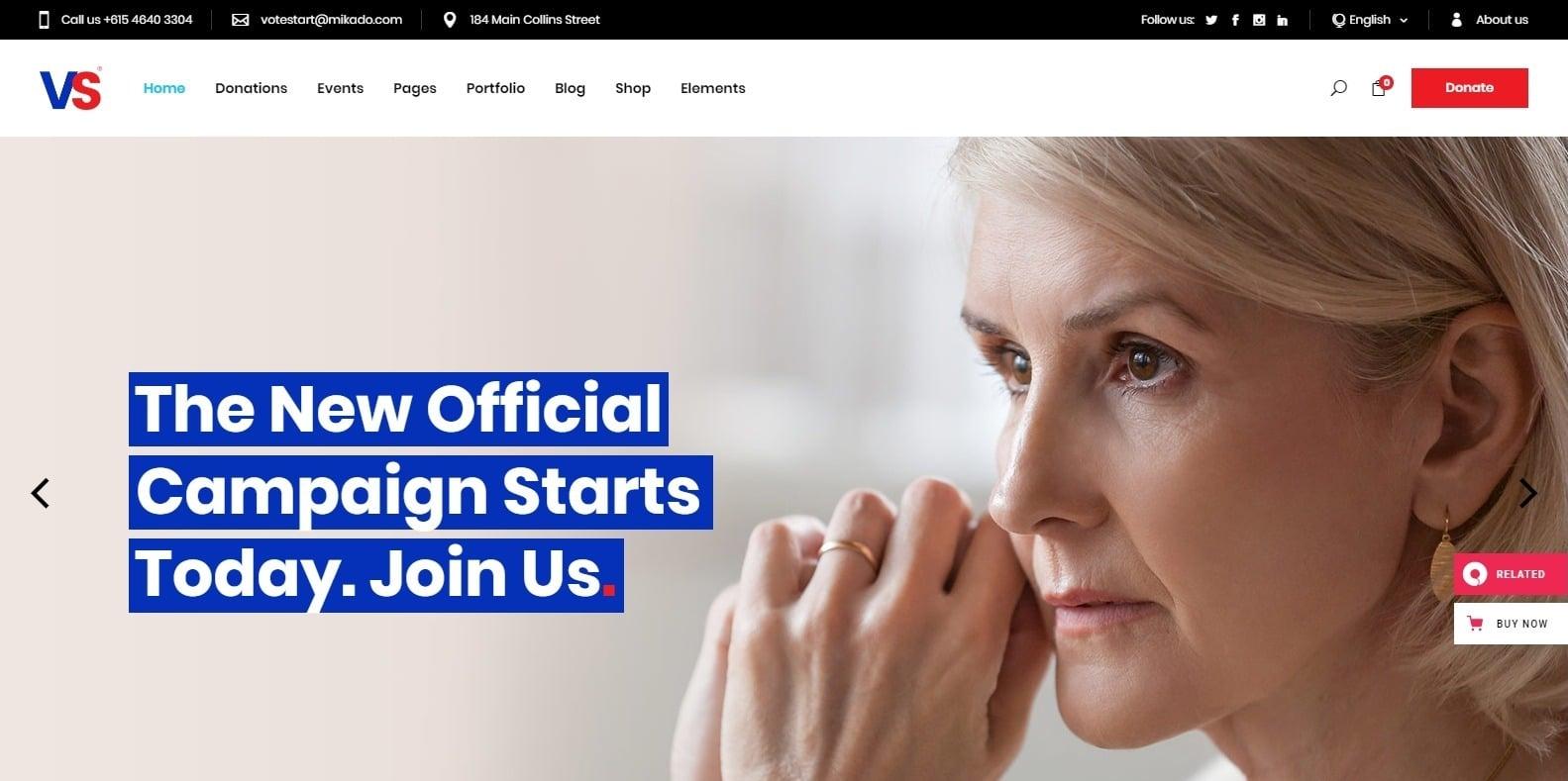 vote-start-political-website-template