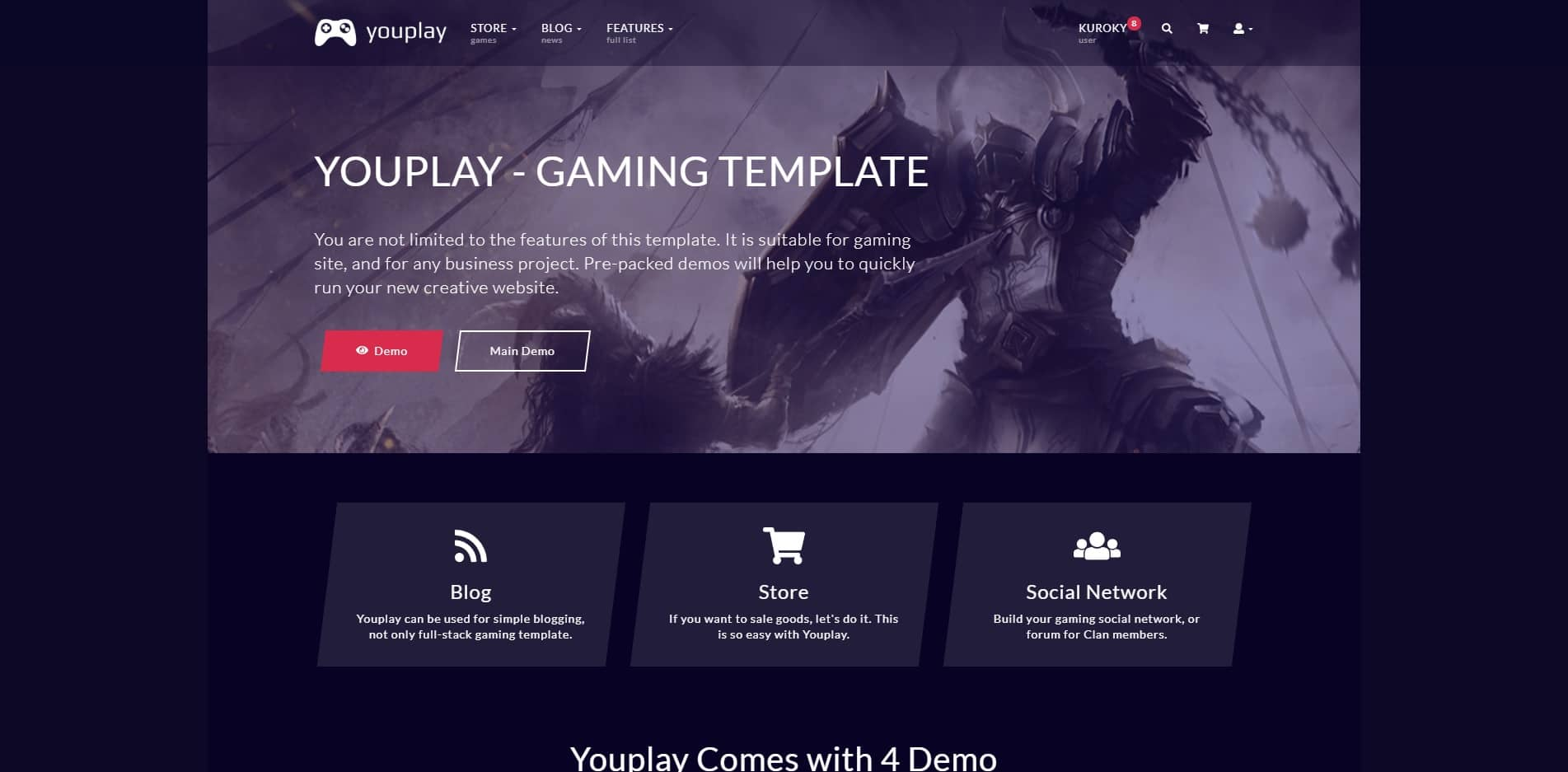 youplay technology website template