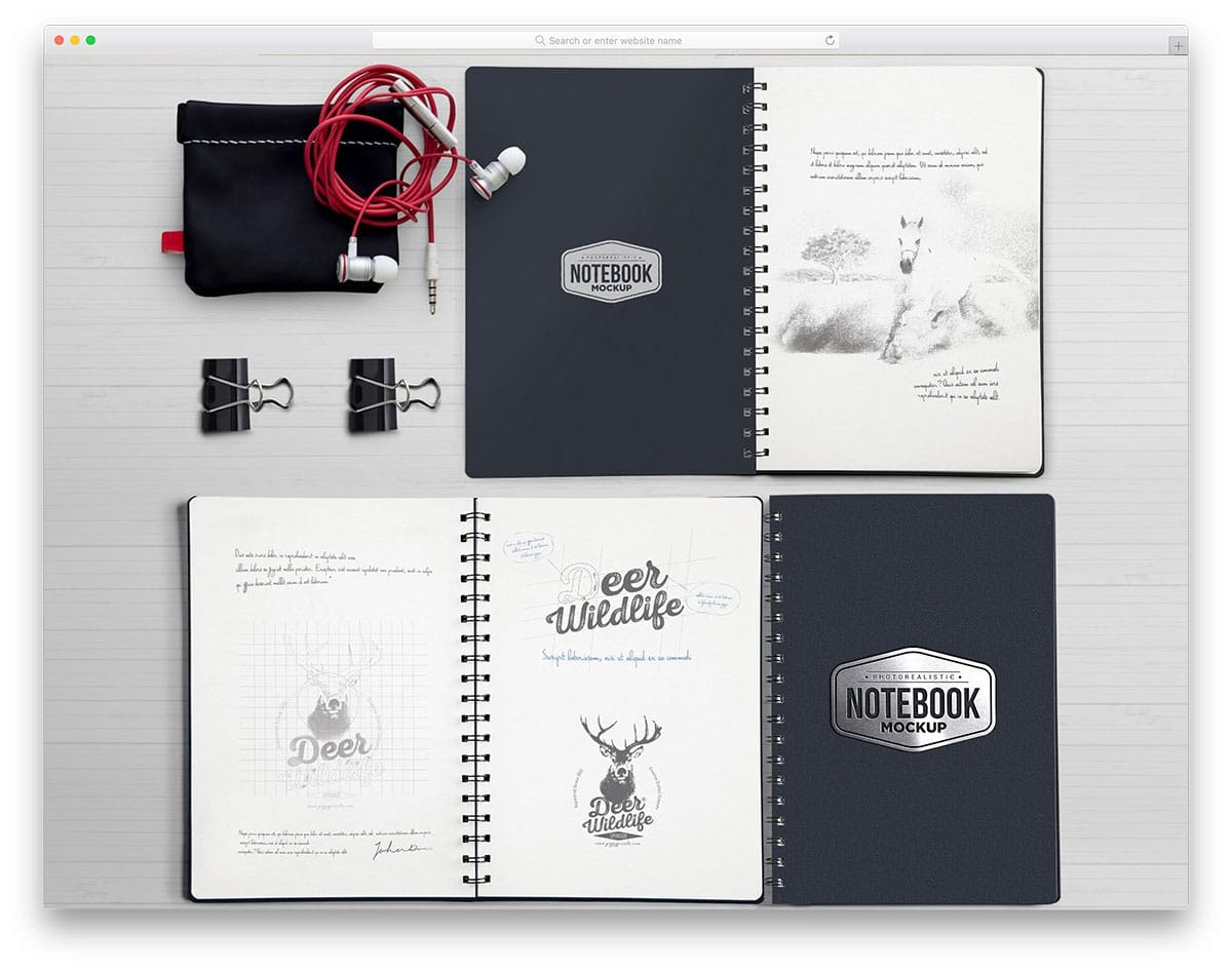 highly customizable spiral notebook with movable elements