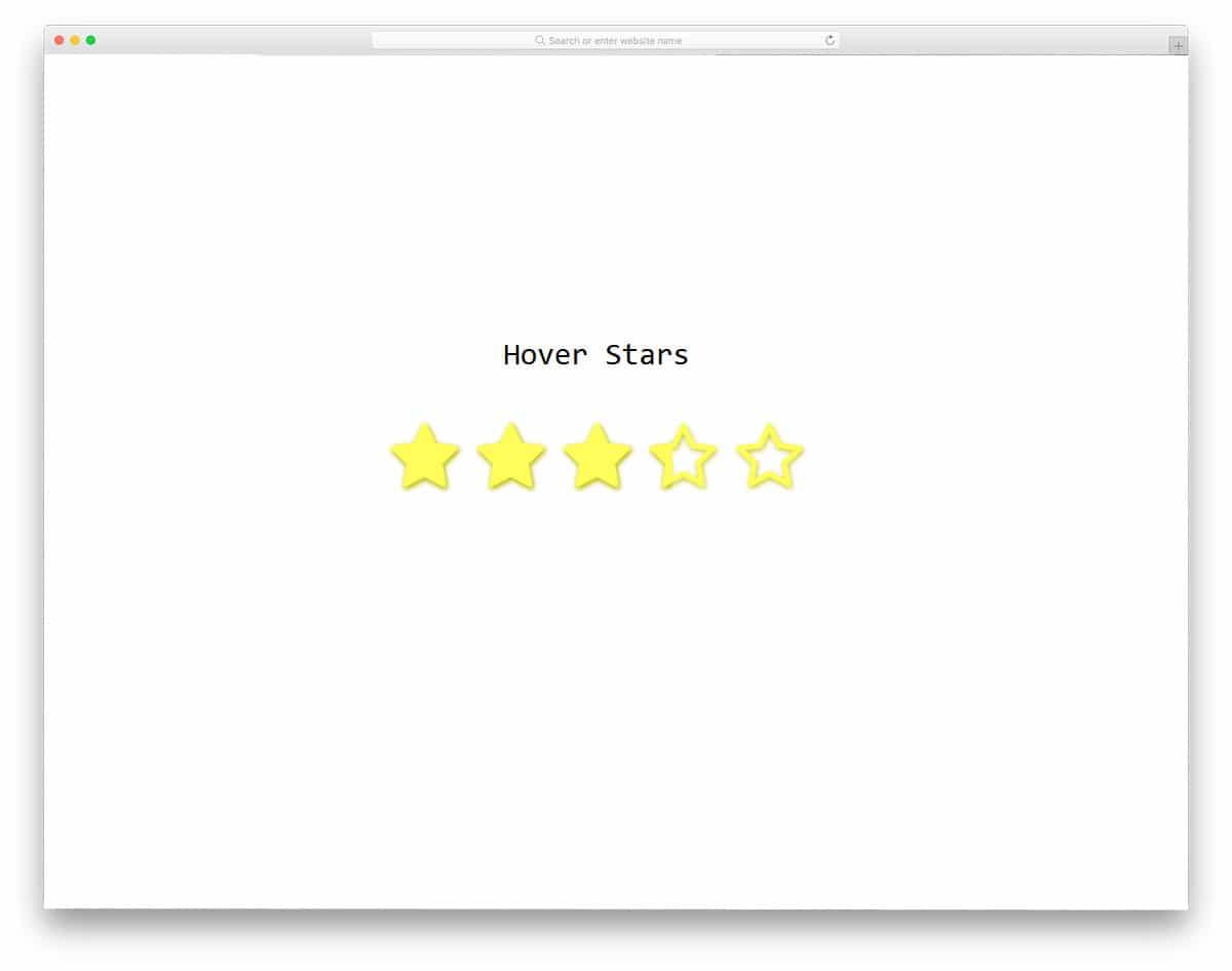 ninteractive hover half star rating