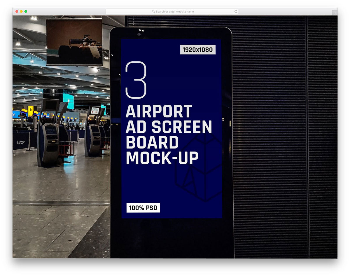 airport billboard mockups