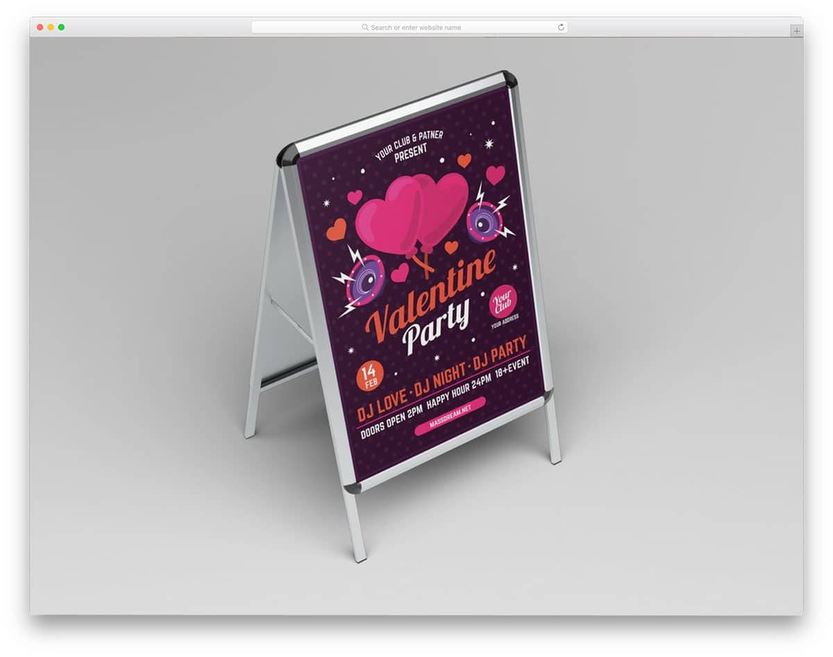 stand mockup for showcasing sign and poster designs