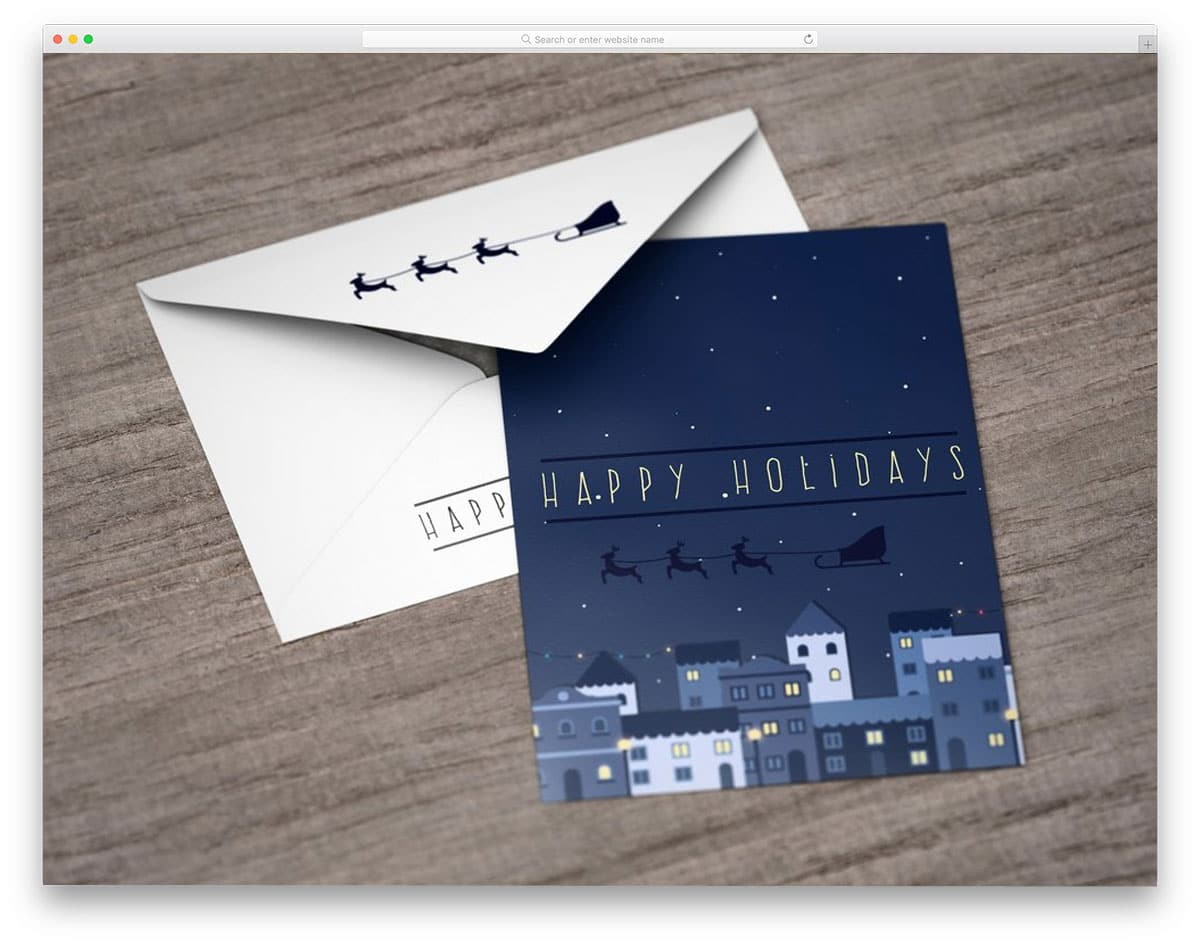 simple postcard and envelope mockup