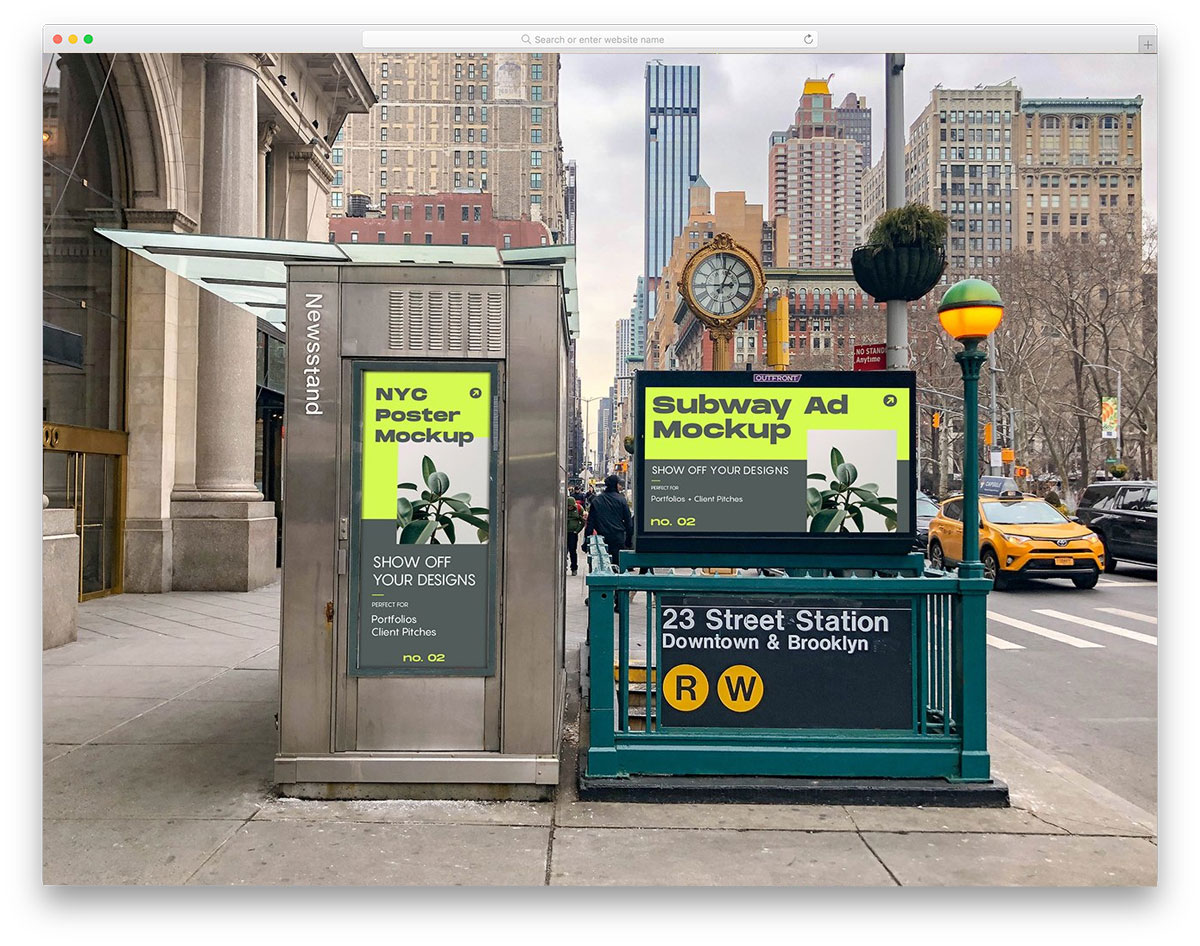 billboards in New York city mockup collection